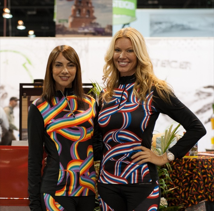 The Hot Chillys girls were all smiles at SIA 2013.