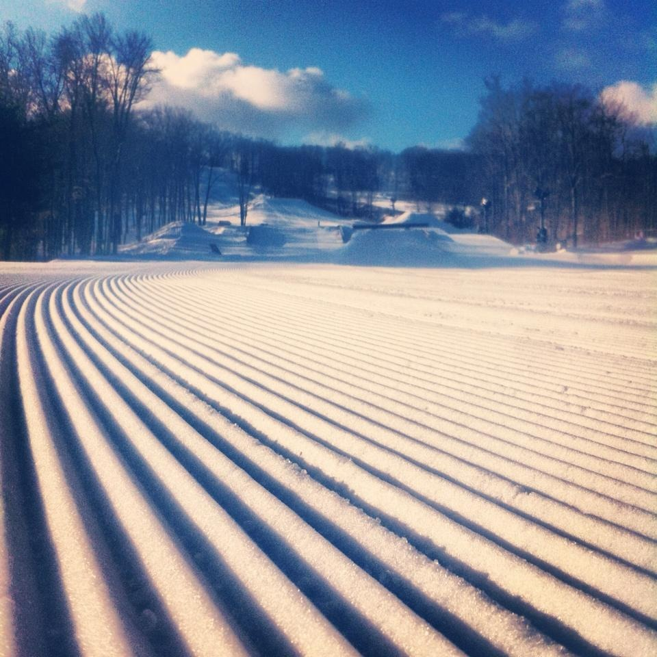 Fresh corduroy at Big Boulder Park. Photo Courtesy of JFBB