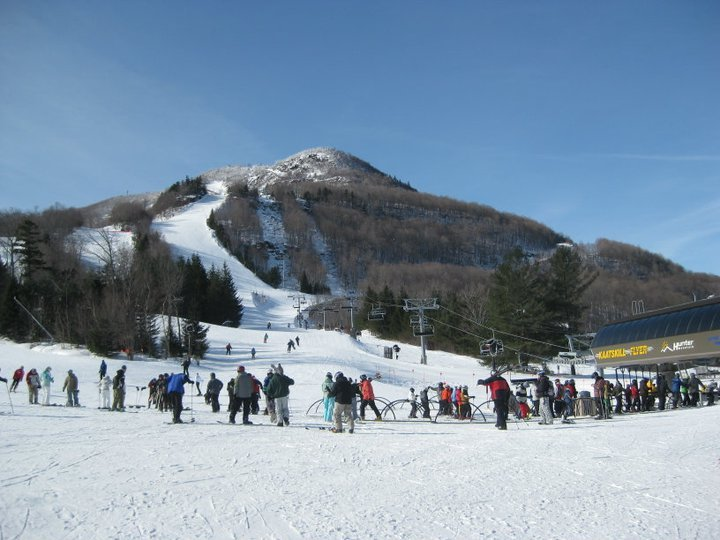 Strong sun and soft snow is a win-win combo for spring skiers. Photo Courtesy of Hunter Mountain.