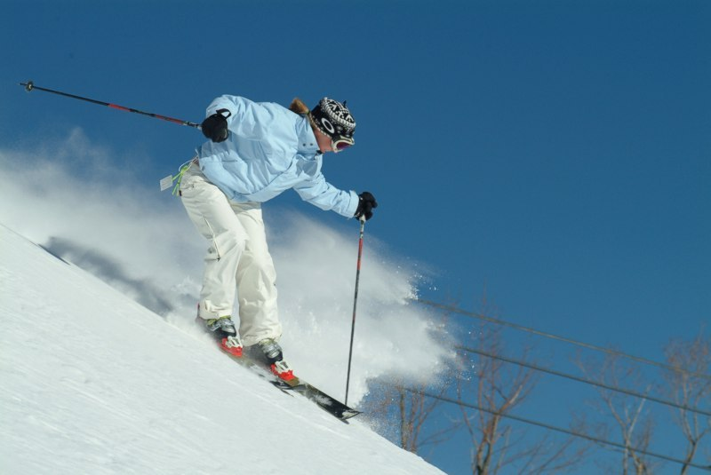 A skier at Hunter Mtn, NY.