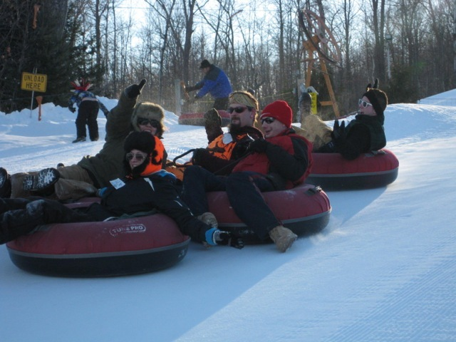 Tubing at Christie Mountain.