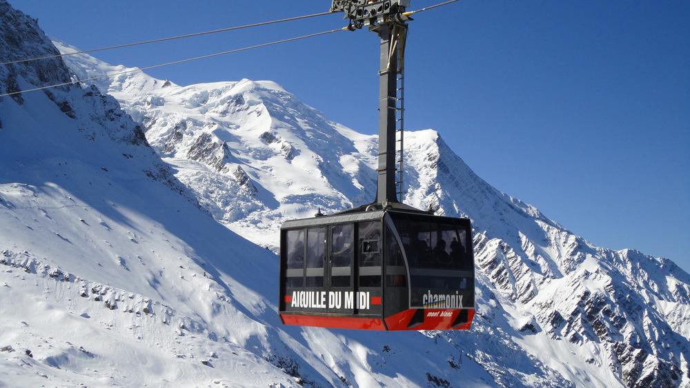 Aiguille du Midi cable car - ©Compagnie du Mont-Blanc