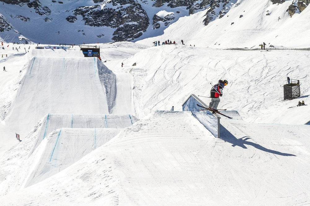 James Woods at the Winter X Games 2012 in Tignes
