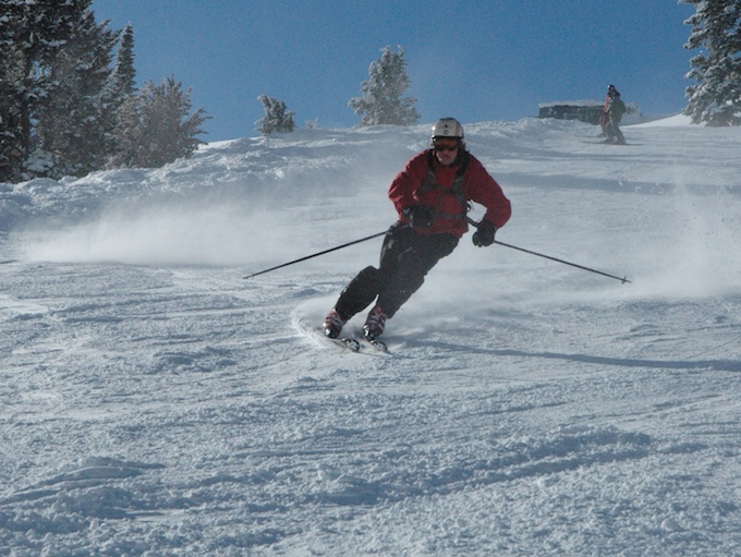 A skier catches speed on a sunny Sun Valley day. Photo by Buck/Flickr. - ©Buck/Flicker