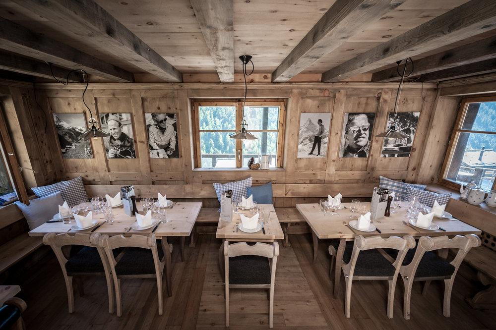 Inside Chez Vrony in Zermatt