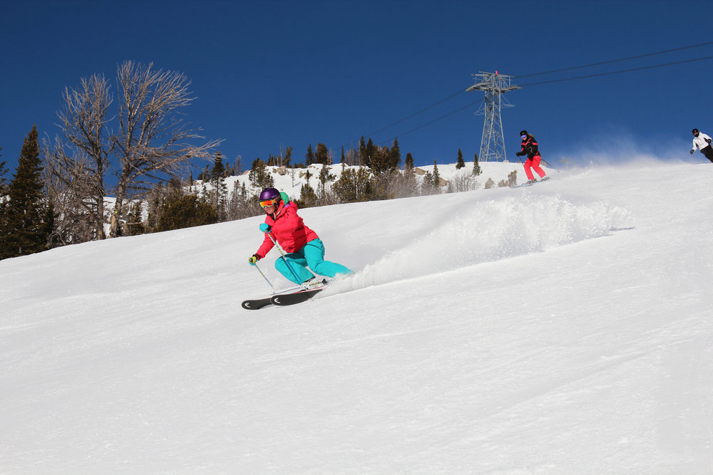 Smearing turns at Jackson Hole. - ©Patrick Nelson/Jackson Hole Mountain Resort