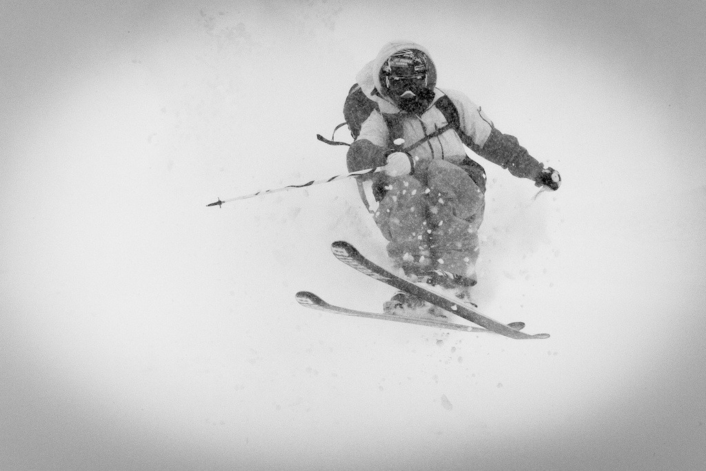Storm skiing with Aidan Sheahan at Crested Butte Mountain Resort.