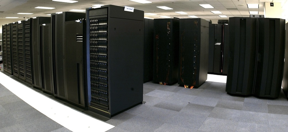 A supercomputer that helps meteorologists to predict the weather.