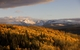 Une vue panoramique automnale de Beaver Creek, Colorado en Octobre 2008