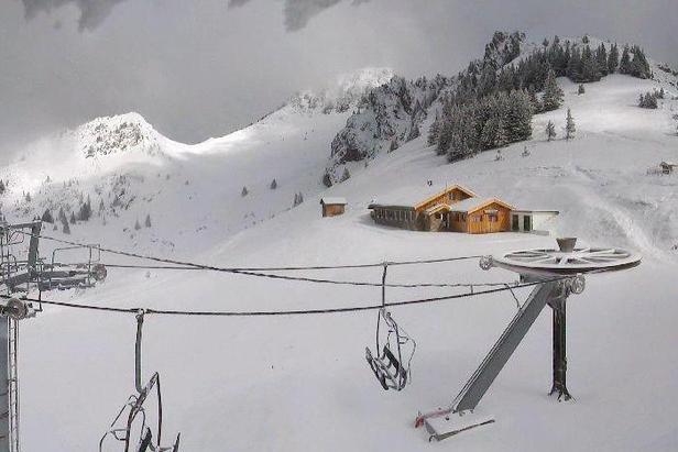 Chute de neige du 24 mai 2013 - La Chapelle d'Abondance