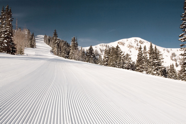 Park City groomed slope