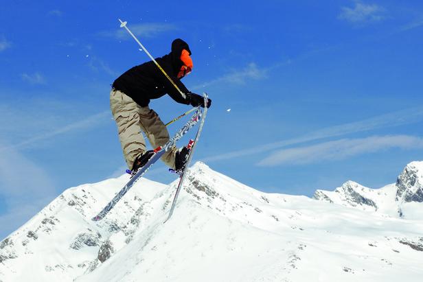 Ski Jumper In Innsbruck