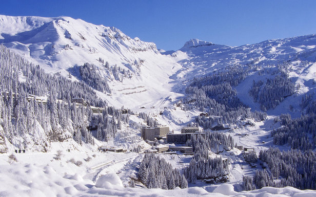 Ski La Combe to Gers, in Flaine -