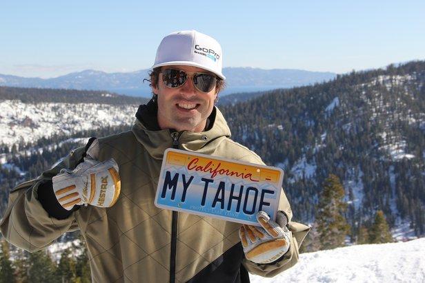 Professional skier/stuntman, JT Holmes, promotes