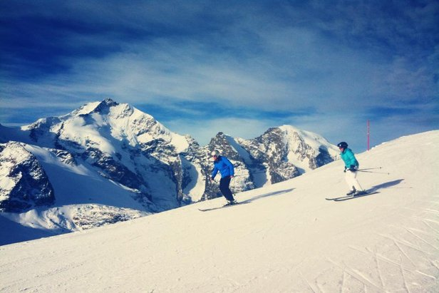 Skiing is open in Engadin. Oct. 19, 2013 - ©Engadin Tourism