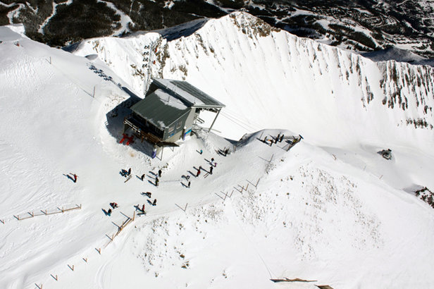 Lone Peak Tram now descends to Moonlight and Big Sky without a special ticket.  - ©Michel Tallichet/Big Sky Resort