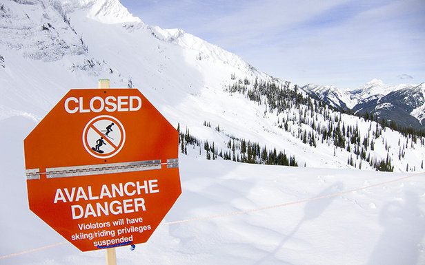 Avalanche closure at Fernie - ©Scott Innes/Flickr