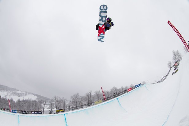 US Olympic Halfpipe and Slopestyle Snowboarding team member Taylor Gold competes at 2013 Burton US Open Qualifiers at Seven Springs.