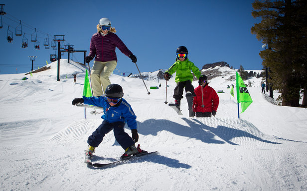 Family fun on the slopes at Squaw - ©Jeff Enegerbretson / Squaw Valley