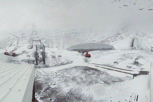 Neve fresca a Les 2 Alpes, 11 ottobre 2014 (3200mt)