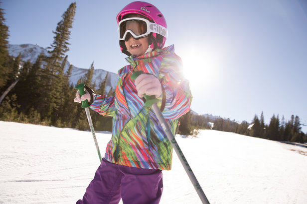 A young skier has learned the basics at Mammoth. - ©Peter Morning