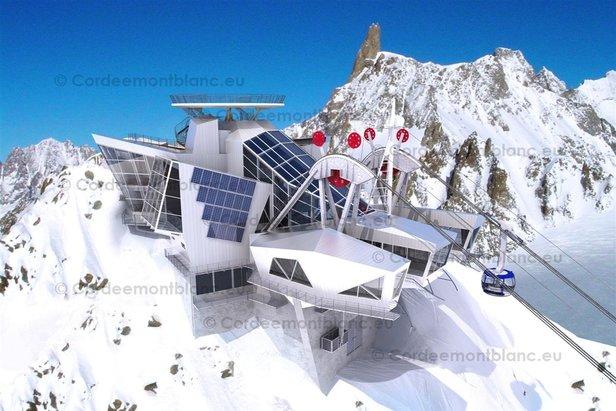 Die neue Bergstation am Punta Helbronna (Courmayeur)