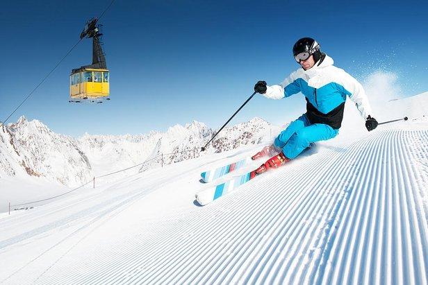 Précision, performance, accroche et plaisir, voici les qualités des skis destinés à la piste. - ©dell - Fotolia.com