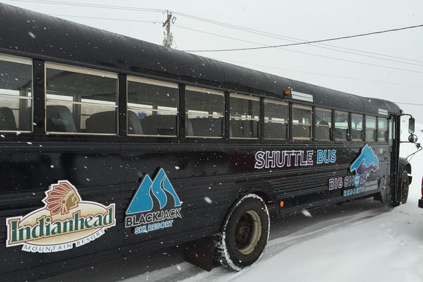 Big Snow Resorts runs a complimentary shuttle between Blackjack and Indianhead. - ©Blackjack Ski Resort