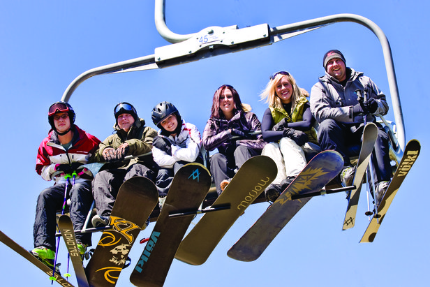 You'll meet lots of like-minded people on a ski season