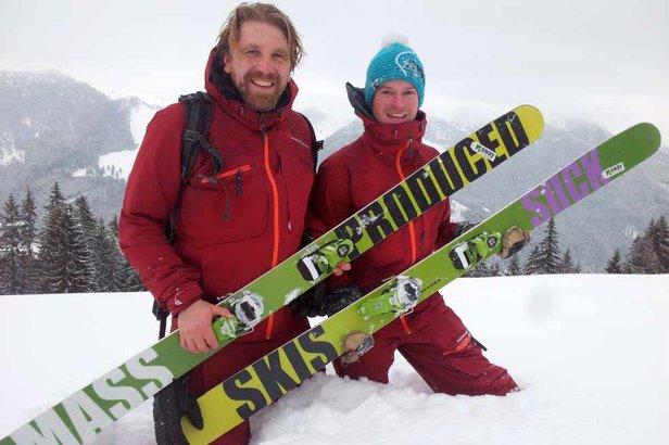 Mass produced Sks suck: Michael Reifinger und Hans Beyer von Sway Skis - ©Sway Skis