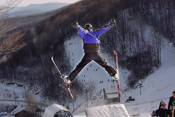 Plattekill Mountain NY skier