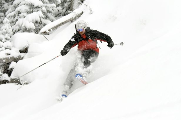 Angel Fire NM powder skier 2