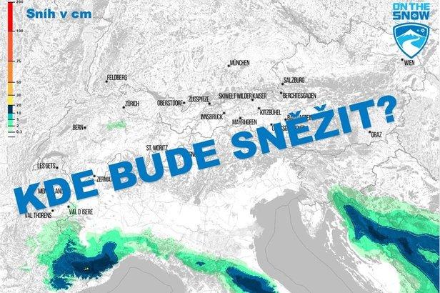Mapa: Každodenní předpověď sněžení pro Alpy - ©ZAMG / Skiinfo / OnTheSnow