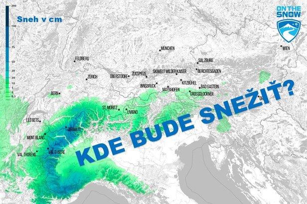 Mapa: Každodenná predpoveď sneženia v Alpách - ©[c] ZAMG | OnTheSnow