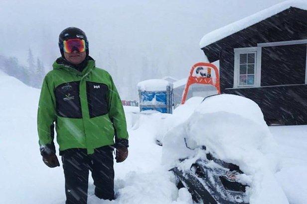 Masse nysnø på Voss. Fra og med i dag går heisene. - ©Voss resort Fjellheisar