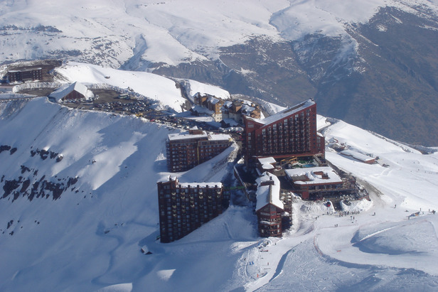 Aerial view of Valle Nevado, Chile. - ©Andes Ski Tours