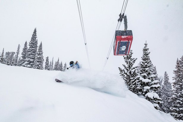 Matt exploding in Riverton Bowl.  - ©Jackson Hole Mountain Resort