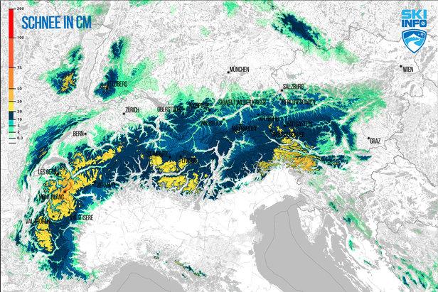 Snehové správy: Turbulentné zmeny počasia prinesú sneh aj slnko - ©[c] ZAMG / Skiinfo