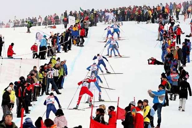 Val di Fiemme - Nordic skiers in Rampa 677px
