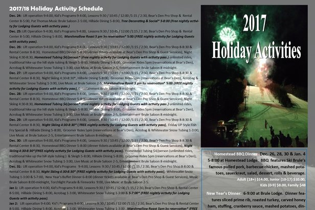 Holiday Events - ©Ski Brule