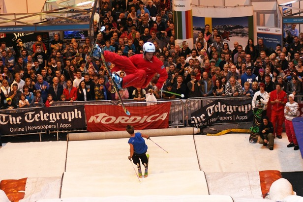 Big Air competition at British Ski + Snowboard Show