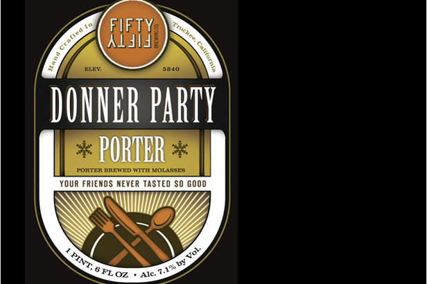 Donner Party Stout by FiftyFifty Brewing Co., 6.7% ABV (Truckee, Calif.) - ©FiftyFifty Brewing Co