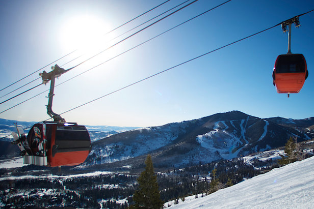 Heading up the gondola at Canyons Resort in Park City - ©Courtesy of Canyons Resort. Photographer, Rob Bossi