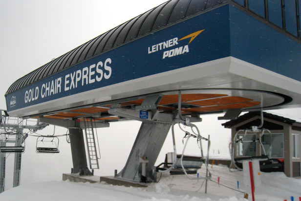 The Gold Chair Express accesses Nakiska's longest runs. Photo by Becky Lomax.  - ©Becky Lomax