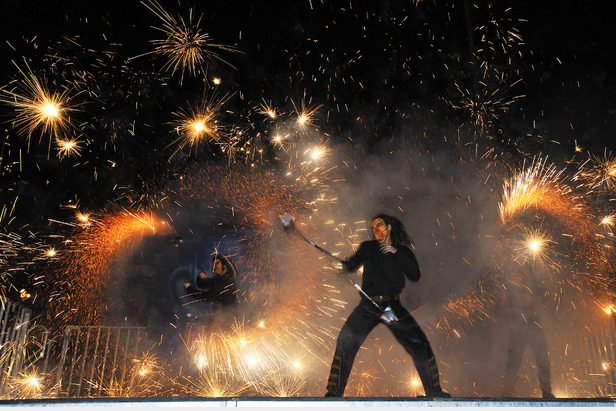 fire spectacle at New Year's Eve in Les Menuires - ©Philippe Royer