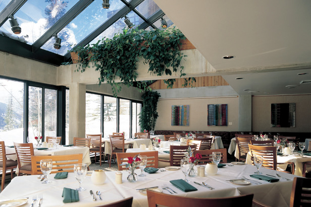 The intimate Bistro Lodge restaurant at Snowbird Resort - ©Courtesy of Snowbird Resort