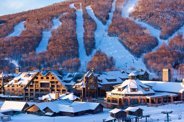 Stowe Mountain Lodge sits at the base of Spruce Peak for ski in/out access. - ©Stowe Mountain Lodge
