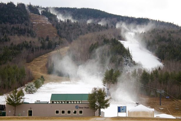 Attitash Mountain Resort joined a number of resorts making snow around the clock thanks to the recent cold temperatures. - ©Attitash Mountain Resort