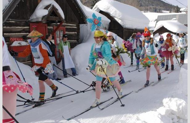 Winter gets wacky during the annual Alley Loop Nordic Ski Race in Crested Butte, CO