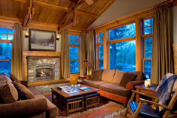 It's all luxury inside the Tamarack Cabins.